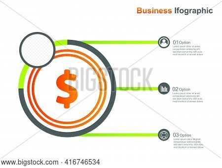 Business Infograpic Design Template.infographic Vector Illustration. Perfect For Marketing, Promotio