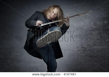 Jumping Rock Guitarist