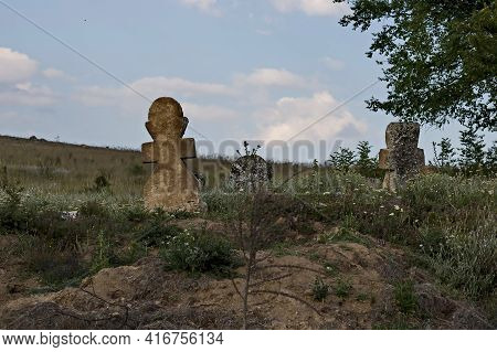 Nisovo, Bulgaria - June 21, 2009: Templar Cemetery, Which Is A Ruin, But Still Magnificent And Beaut
