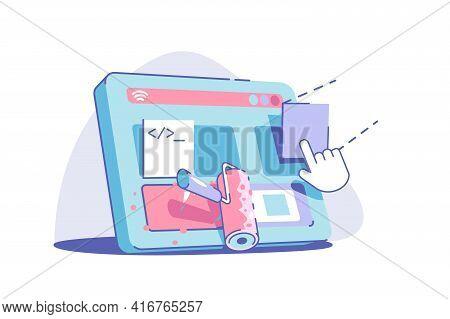 Modern Site Redesign Vector Illustration. Web Design
