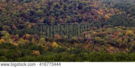 Fall Colors At Petit Jean State Park From A Overlook