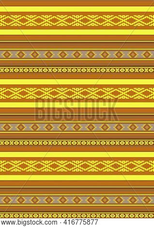 Mexican Blanket Seamless Pattern. Ethnic Tribal Ornament Background. Striped Textile Ornament. Abstr