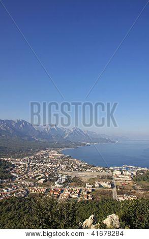 Aerial View Of Kemer City, Turkey