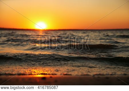 Picturesque View Of Beautiful Seaside At Sunset