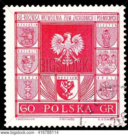 Poland - Circa 1965 A Stamp Printed In Poland, 20th Anniversary Of Regaining The Western And Norther