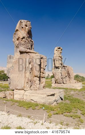 The Colossi of Memnon, Egypt