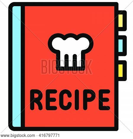 Bakery Recipe Book Icon, Bakery And Baking Related Vector Illustration