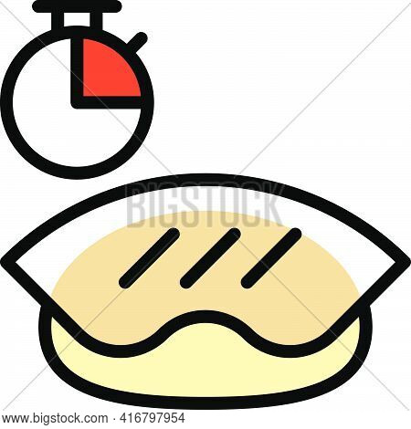Dough Fermentation Icon, Bakery And Baking Related Vector Illustration