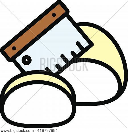 Manipulating Dough Icon, Bakery And Baking Related Vector Illustration
