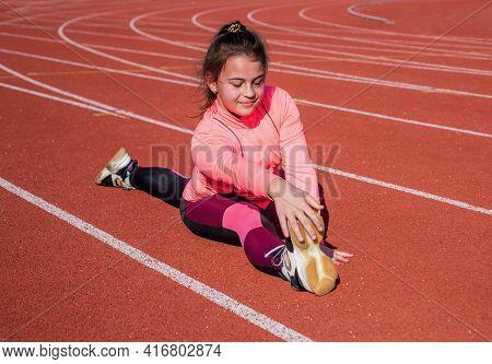 Splits Exercise Routine. Flexible Kid Do Splits. Leg Stretch. Stretching Exercises. Fitness Workout