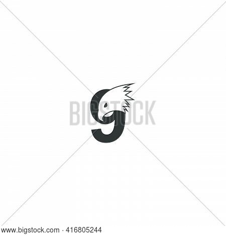 Number 9 Logo Icon With Falcon Head Design Symbol Template Vector
