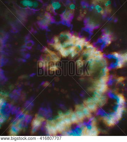 Psychedelic Tie Dye. Hippie Art Design. Colorful Batik Print. Watercolor Grunge Patterns. Tye Dye Sw