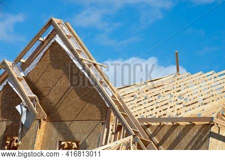 Rafters Against The Sky New Rooftop Frame