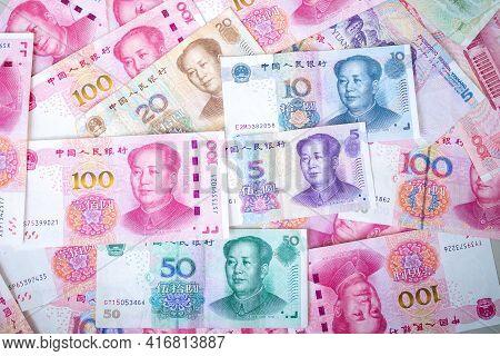 Set Of Chinese Currency Money Yuan Renminbi.