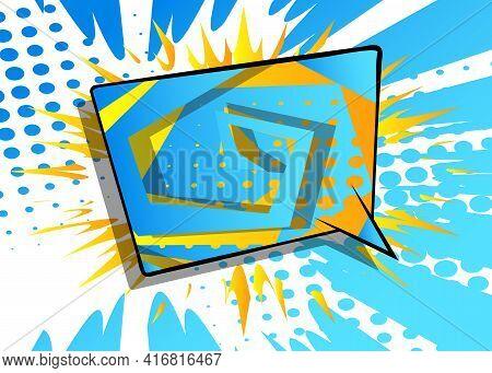 Cartoon Vector Illustration Template Design For Poster, Card, Sale Banner. Pop Art Creative Concept