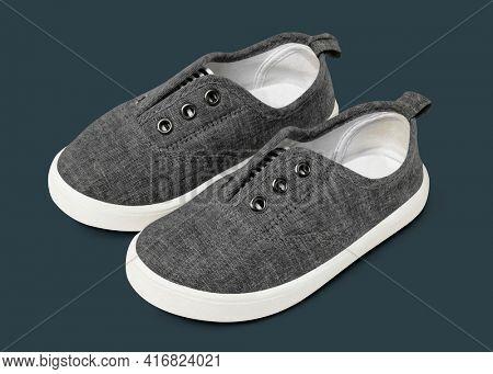 Gray slip-on unisex streetwear sneakers fashion