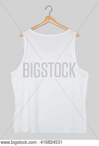 White muscle shirt streetwear fashion