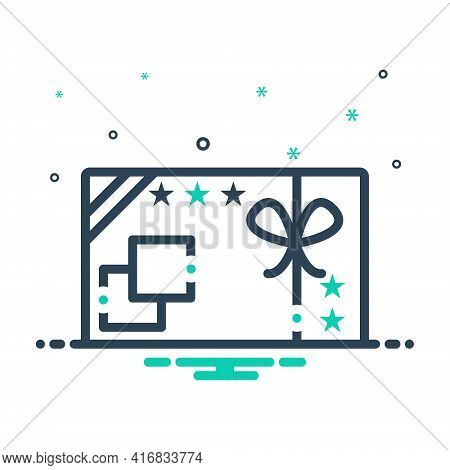 Mix Icon For Gift-card  Gift Card  Gift-voucher Present Surprise Coupon