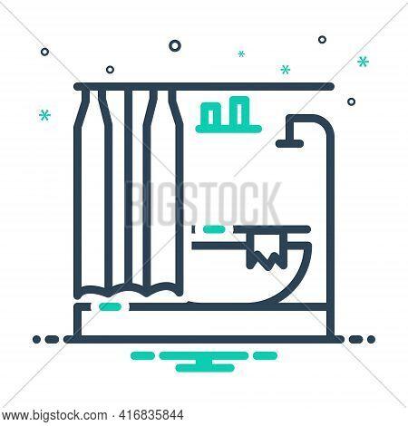 Mix Icon For Bathroom Bath Contemporary Modern Sanitary Shower Washroom