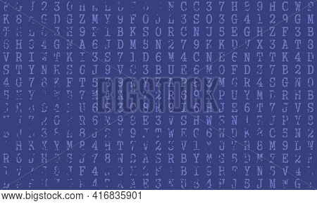 Machine Code Backdrop. Concept Of Internet Technology