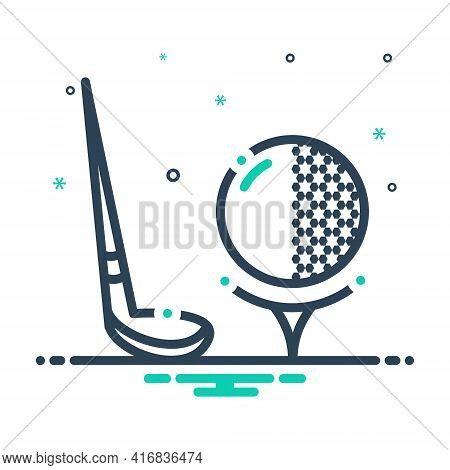 Mix Icon For Golf Ball Golfers Tennis