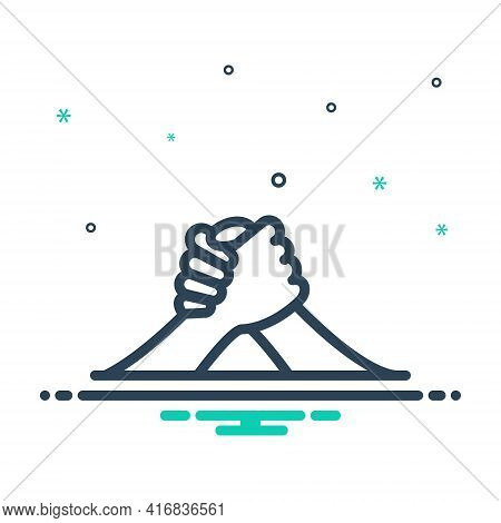 Mix Icon For Arm-wrestling Arm Challenge Competition Fighting Struggle Wrestling
