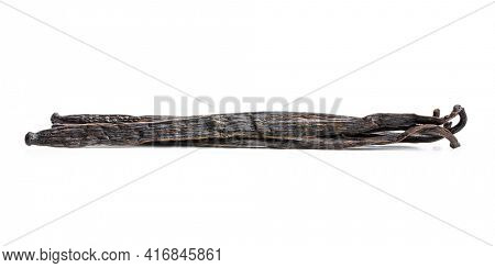 Vanilla pods. Sticks of vanilla isolated on white background.