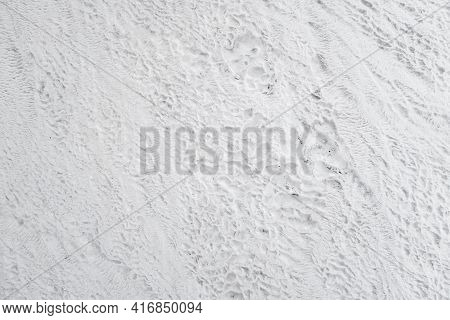 Surface Of Natural Travertine, Formed During Ages By Constant Flowing Mineral Water