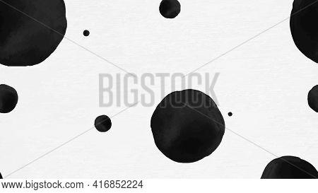 Background of polka dot ink brush pattern