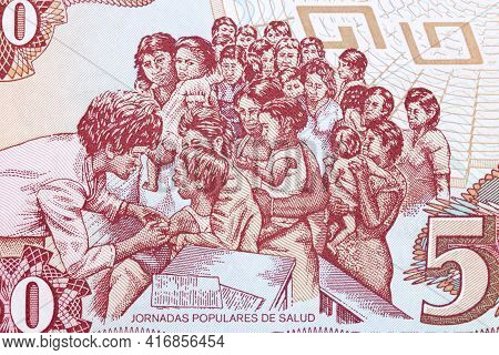 Mothers With Children - Health Day From Nicaragua Money