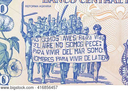 Introduction Of Land Reform From Nicaragua Money