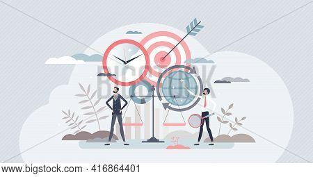 Corporate Social Responsibility Or Fair Business Csr Tiny Person Concept