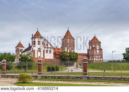 Mir Castle Complex Is A Unesco World Heritage Site In Mir Town, Belarus