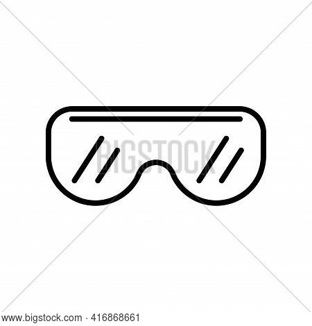 Eye Protection Mask Vector Icon. Biology Goggles. Scientific Lab Glasses. Medicine Sign. Graph Symbo