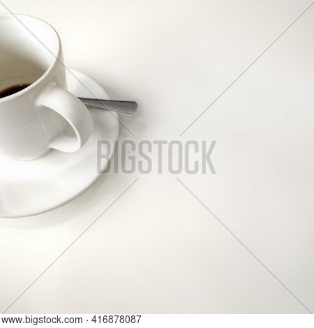 An image of a finished cup of coffe white background