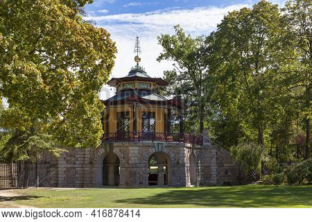 The Chinese Pavilion Of Cassan Was Built Between 1781 And 1785 In L'isle Adam, A Small Town In Val D