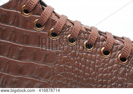 Close Up Of Brown Leather Shoes