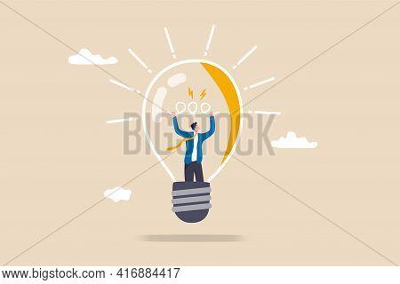 Entrepreneurship, Curiosity And Creativity To Create New Idea, Motivation To Success Or Problem Solv