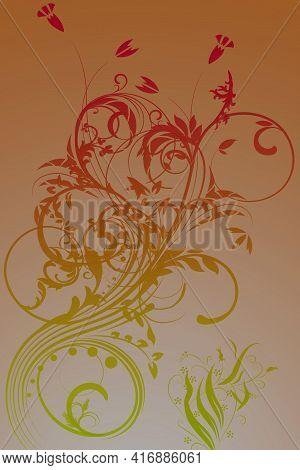 Beautiful Flower Background Design Illustration With Gradient