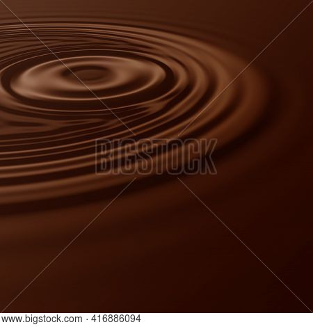 Fantastic Choco Wave Background Design Illustration With Space For Text
