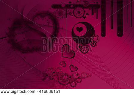 Fantastic Abstract Retro Style Background Design Illustration