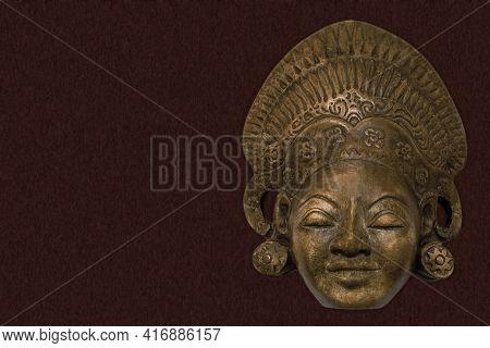 Magical Old Culture Historic Mask Background Design