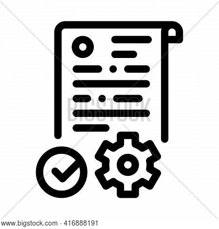 Process Applications Line Icon Vector. Process Applications Sign. Isolated Contour Symbol Black Illu