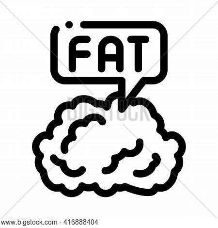 Fat Atherosclerosis Line Icon Vector. Fat Atherosclerosis Sign. Isolated Contour Symbol Black Illust