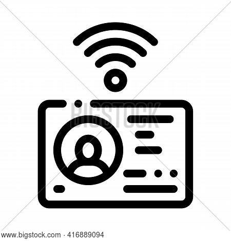 Electronic Identity Document Line Icon Vector. Electronic Identity Document Sign. Isolated Contour S