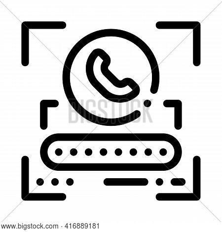 Call Password For Identity Line Icon Vector. Call Password For Identity Sign. Isolated Contour Symbo