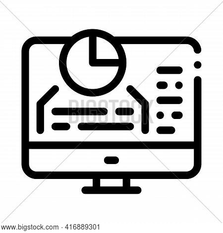 Chart Infographic Success Identity Line Icon Vector. Chart Infographic Success Identity Sign. Isolat