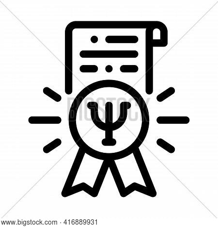 Psychological Counseling License Line Icon Vector. Psychological Counseling License Sign. Isolated C