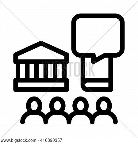 Control Policy Line Icon Vector. Control Policy Sign. Isolated Contour Symbol Black Illustration