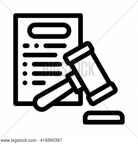Law Policy Line Icon Vector. Law Policy Sign. Isolated Contour Symbol Black Illustration